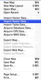 Screenshot of the import raster data window