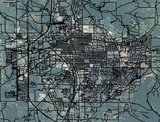 Screenshot of Bloomington, Indiana with Orthophoto and Street Overlay