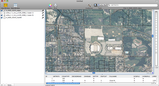 Screenshot of Indiana University Football Stadium with Street Overlay