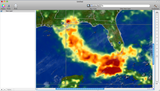 WMS Image of Rainfall Generated by Hurricane Katrina