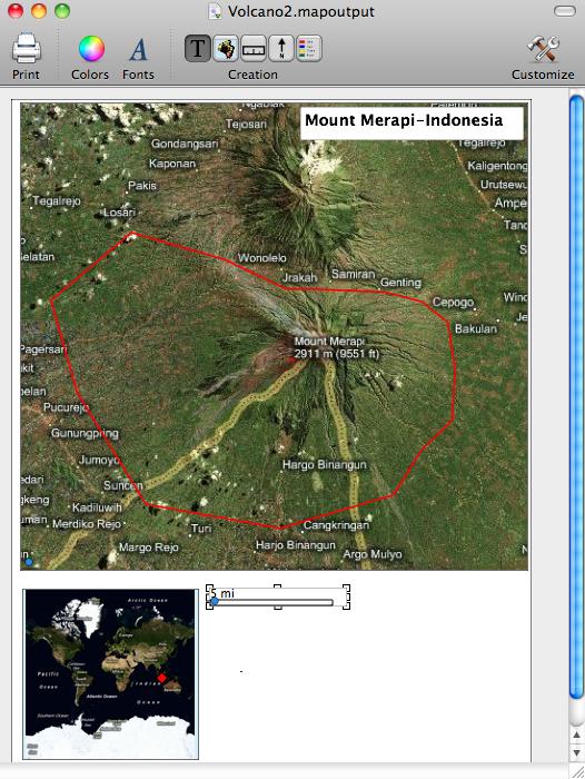 Mount Merapi Satellite