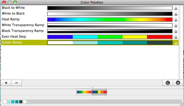 Show Color Palettes Window