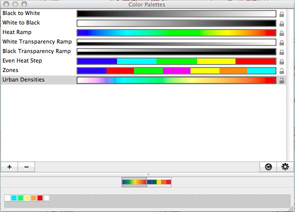 Color Palettes Window