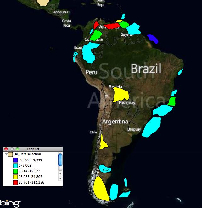 South American Oil Fields