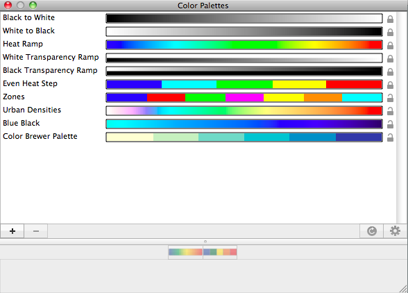 Color Palettes Window