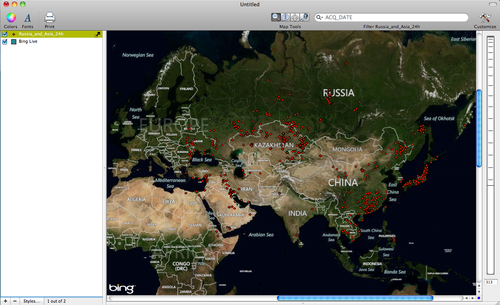 wildfire data from Russia and Asia