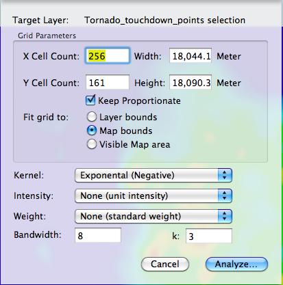 Kernel Density window