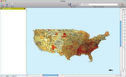 distribution of Diabetes across U.S. Counties
